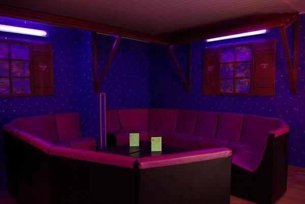 Espace lounge du Divin Sauna